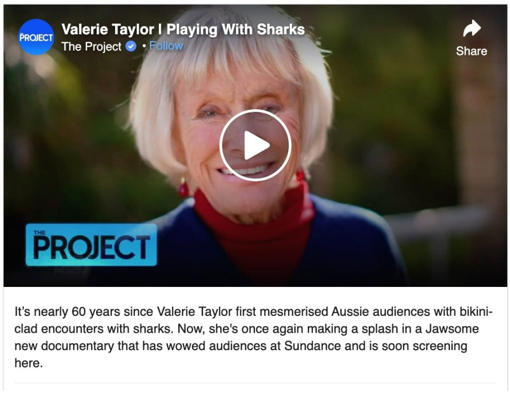 valerie taylor interview on the project